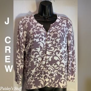 J Crew Floral Button Up Sweater Jacket